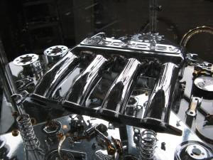 Motor verchromt